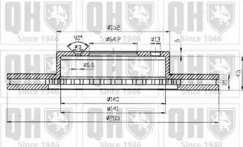 Quinton Hazell BDC3575 - Bremžu diski autodraugiem.lv