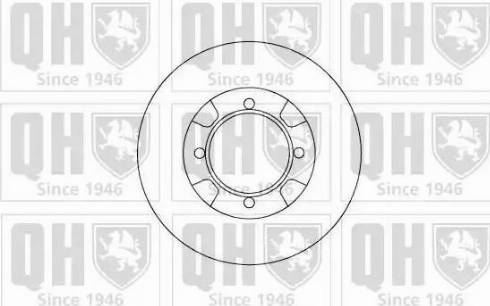 Quinton Hazell BDC3655 - Bremžu diski autodraugiem.lv