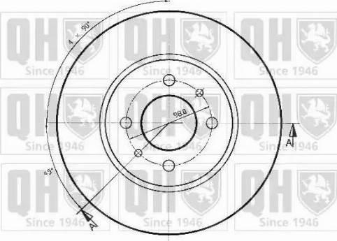 Quinton Hazell BDC3193 - Bremžu diski autodraugiem.lv