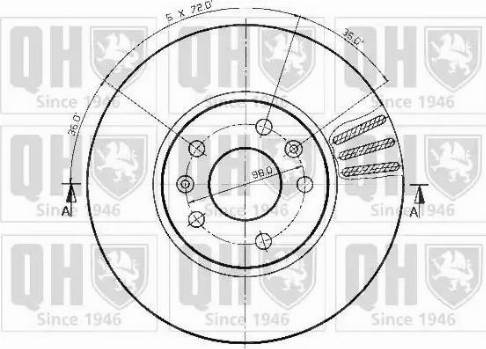 Quinton Hazell BDC3180 - Bremžu diski autodraugiem.lv