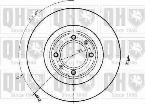 Quinton Hazell BDC3214 - Bremžu diski autodraugiem.lv