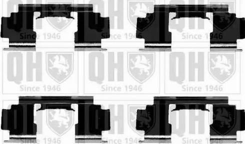Quinton Hazell BFK866 - Piederumu komplekts, Disku bremžu uzlikas autodraugiem.lv