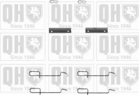 Quinton Hazell BFK741 - Piederumu komplekts, Disku bremžu uzlikas autodraugiem.lv