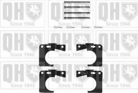 Quinton Hazell BFK758 - Piederumu komplekts, Disku bremžu uzlikas autodraugiem.lv