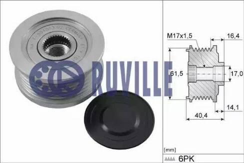 Ruville 55376 - Ģeneratora brīvgaitas mehānisms autodraugiem.lv