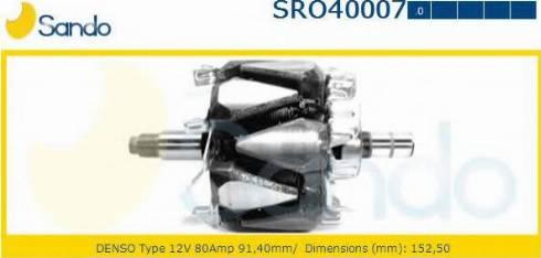 Sando SRO40007.0 - Rotors, Ģenerators autodraugiem.lv
