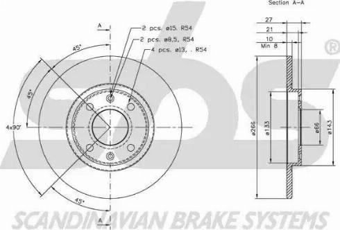 SBS 1815209914 - Bremžu diski autodraugiem.lv