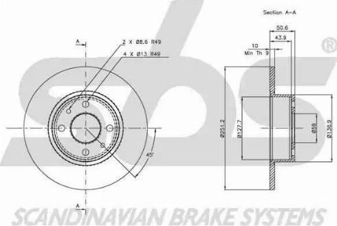 SBS 1815209928 - Bremžu diski autodraugiem.lv