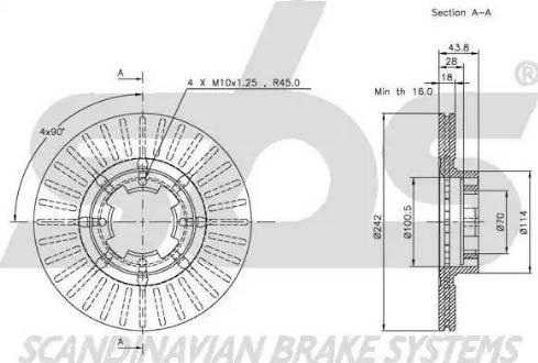 SBS 1815204402 - Bremžu diski autodraugiem.lv