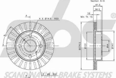 SBS 1815204520 - Bremžu diski autodraugiem.lv