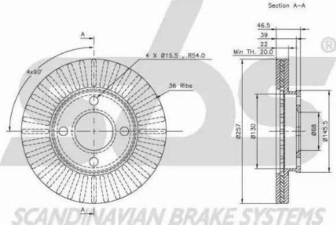 SBS 1815204719 - Bremžu diski autodraugiem.lv