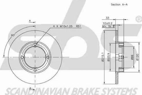 SBS 1815205202 - Bremžu diski autodraugiem.lv
