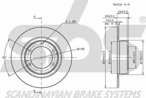 SBS 1815201901 - Bremžu diski autodraugiem.lv