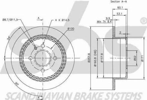 SBS 1815201510 - Bremžu diski autodraugiem.lv