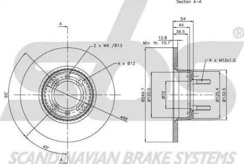 SBS 1815201008 - Bremžu diski autodraugiem.lv