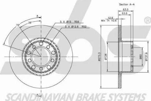 SBS 1815203303 - Bremžu diski autodraugiem.lv