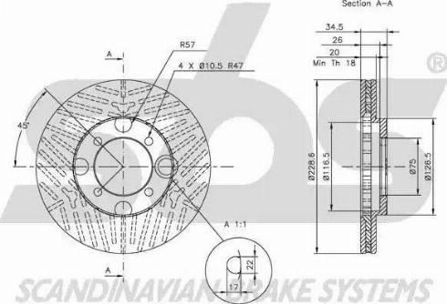 SBS 1815203217 - Bremžu diski autodraugiem.lv