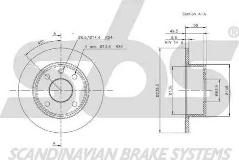 SBS 1815202513 - Bremžu diski autodraugiem.lv