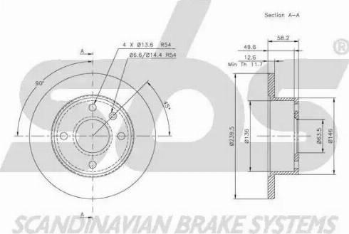 SBS 1815202512 - Bremžu diski autodraugiem.lv