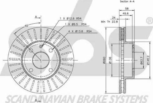 SBS 1815202529 - Bremžu diski autodraugiem.lv