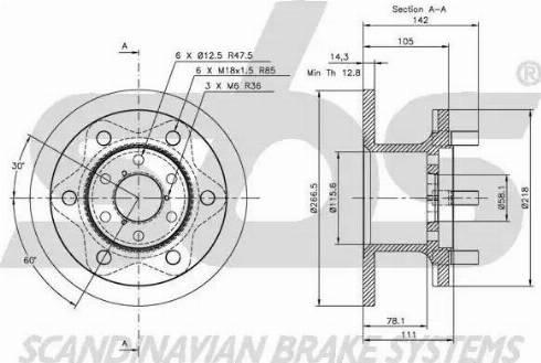 SBS 1815202306 - Bremžu diski autodraugiem.lv