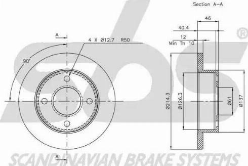 SBS 1815202240 - Bremžu diski autodraugiem.lv