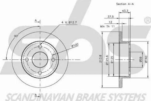 SBS 1815202212 - Bremžu diski autodraugiem.lv