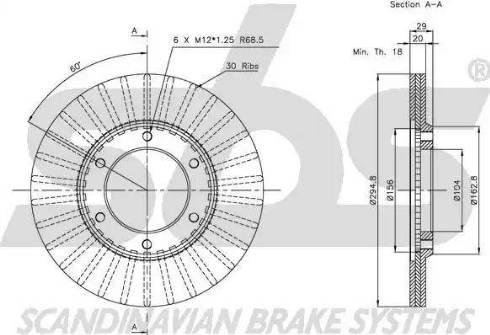 SBS 1815202227 - Bremžu diski autodraugiem.lv