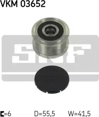 SKF VKM 03652 - Ģeneratora brīvgaitas mehānisms autodraugiem.lv