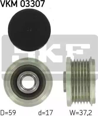 SKF VKM 03307 - Ģeneratora brīvgaitas mehānisms autodraugiem.lv