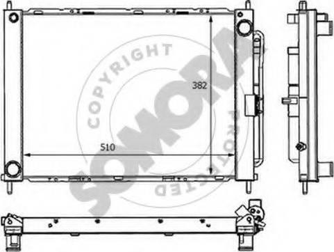 Somora 241140B - Radiators, Motora dzesēšanas sistēma autodraugiem.lv