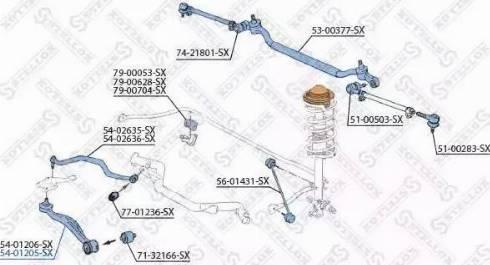 Stellox 54-01205-SX - Neatkarīgs riteņu piekares svira autodraugiem.lv
