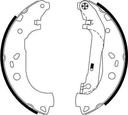 Textar 91061400 - Bremžu komplekts, trumuļa bremzes autodraugiem.lv