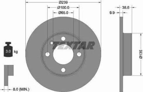 Textar 92009303 - Bremžu diski autodraugiem.lv