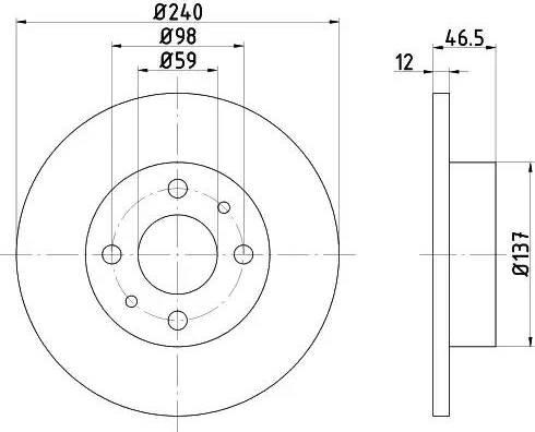 Textar 92034500 - Bremžu diski autodraugiem.lv