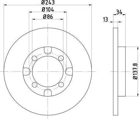 Textar 92034600 - Bremžu diski autodraugiem.lv