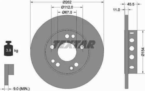Textar 92027403 - Bremžu diski autodraugiem.lv