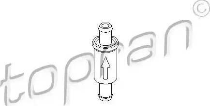 Topran 101 975 - Vārsts, Stiklu apskalotāja cauruļvads autodraugiem.lv