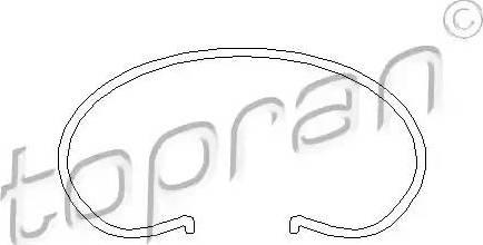Topran 101042 - Stiepļu gredzens, Sajūga disks autodraugiem.lv