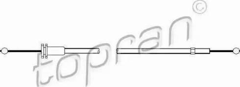 Topran 102988 - Motora pārsega slēdzenes trose autodraugiem.lv