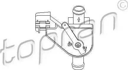 Topran 102654 - Dzesēšanas šķidruma regulēšanas vārsts autodraugiem.lv