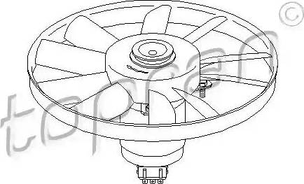 Topran 107 012 - Ventilators, Motora dzesēšanas sistēma autodraugiem.lv
