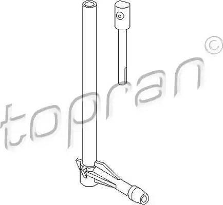 Topran 107296 - Ūdens sprausla, Stiklu tīrīšanas sistēma autodraugiem.lv
