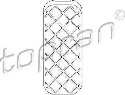 Topran 111479 - Pedāļa uzlika, Akseleratora pedālis autodraugiem.lv