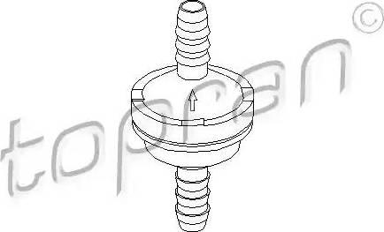 Topran 206111 - Vārsts, Vakuumsūknis autodraugiem.lv