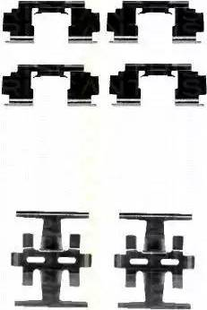 Triscan 8105 401612 - Piederumu komplekts, Disku bremžu uzlikas autodraugiem.lv