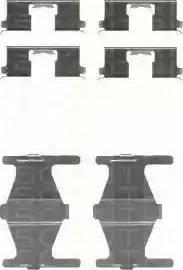 Triscan 8105 141589 - Piederumu komplekts, Disku bremžu uzlikas autodraugiem.lv