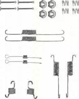 Triscan 8105 162591 - Piederumu komplekts, Bremžu loki autodraugiem.lv