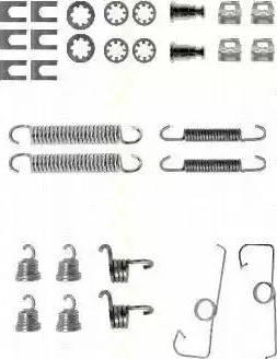 Triscan 8105 102512 - Piederumu komplekts, Bremžu loki autodraugiem.lv