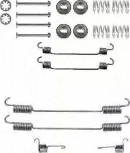 Triscan 8105 102572 - Piederumu komplekts, Bremžu loki autodraugiem.lv